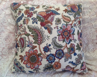 PAISLEY Pillow a COVER Traditional Vintage WAVERLY  fabric