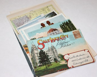 Salt Lake City, Utah - United States Vintage Travel Collage Kit