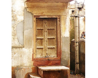 Architecture art travel photography doorway ancient old door earth tones neutrals syamarts prints any size