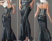 Long BLACK Mermaid skirt from Artifice Clothing (made to order sample)
