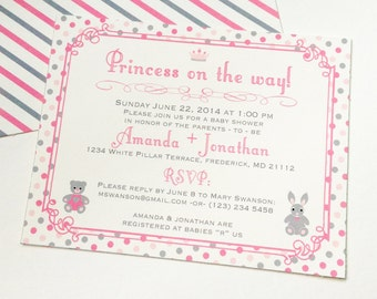Princess On The Way! Baby Shower Invitations