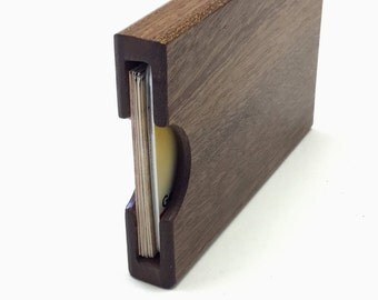 Sapele Business Card Case