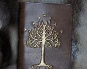 LOTR Tree of Gondor Inspired Handcarved Journal