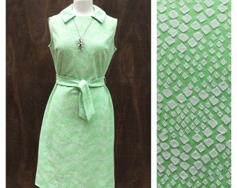 REVIVED 1970s Vintage GEO Pattern Day Dress // Med- Large