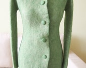 Elegant felted coat - hand made