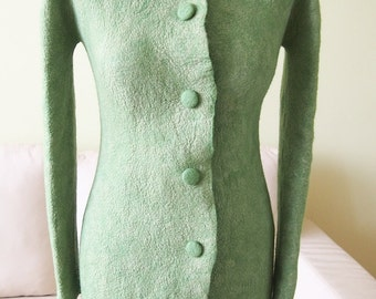 Elegant felted coat - hand made
