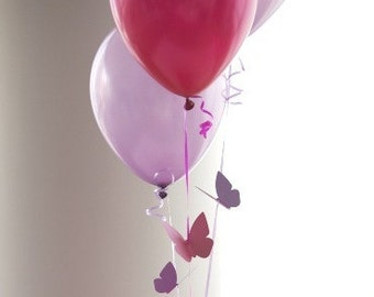 Butterfly Themed Birthday Party Decorations - Flying Butterfly Balloon Bouquets - Choice of Colors