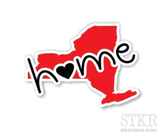 New York home state vinyl sticker, your choice of color