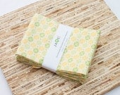 SALE - Large Cloth Napkins - Set of 4 - (N2717) - Yellow Modern Reusable Fabric Napkins