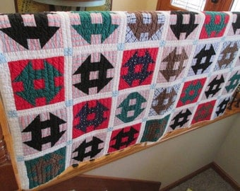 Vintage Hand Quilted Quilt