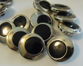 """12 Silver Eye Round Shank Buttons Size 7/8"""""""