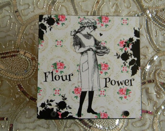 Flour Power Napkin Holder Bake Shoppe Baker Kitchen