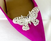 Bridal Shoe Clips Crystal Rhinestone Shoe Clips Wedding Party Cinderella Crystal Shoe Clip (Set of 2) SC064LX