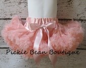 Peach Pettiskirt - 9-24 mo - Ready To Ship - Baby Girl 1st Birthday Outfit - Peach Tutu - Peach Skirt - Girls First Birthday Outfits