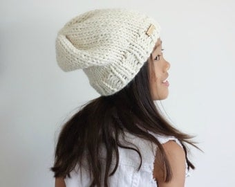 Chunky Knit Slouchy Hat Beanie // Fisherman // The Chelsea