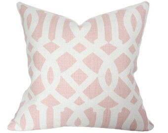 Imperial Trellis Blush Pillow Cover - Made-to-Order