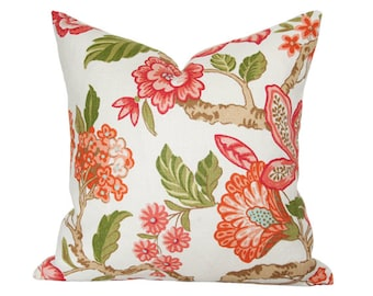 Huntington Gardens Coral Pillow Cover (Single-Sided) - Made-to-Order