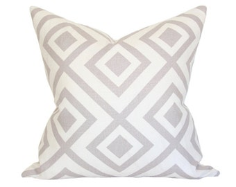 La Fiorentina David Hicks - Grey & Ivory - Designer Pillow Cover Double-Sided (FLAWED AS-IS) 24x24
