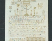 The 1797 Sampler Pattern #00523 A Reproduction from the Collection of The Embroiderers' Guild of America