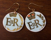 Queen's Coronation Earrings - Recycled China - Material and Movement