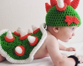 Bowser baby photography prop set mario nintendo themed infant costume