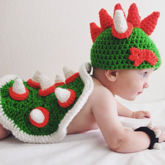Bowser baby photography prop set mario nintendo themed infant