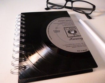 GERSHWIN Record Notepad A6 Jotter  Proms Classical Music Vintage Vinyl Unique Gift Recycled Record Journal