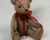 Collectible Hand Sewn Felt Bear by Jan