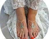 Barefoot Sandals Shoes Bridal Shoes Beach Wedding Foot Jewelery Weddings Boho Wedding Gypsy Shoes - Rhee
