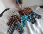 Doll Clothes, Shorts  Plaids & Stripes for 12 inch boy doll, Ready to Ship