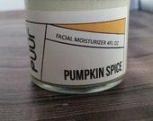 Pumpkin Seed Oil Facial Moisturizer - Pumpkin Spice Face Cream - Moisturizing Cream - VEGAN lotion - Mineral Oil Free - Paraben Free 4oz