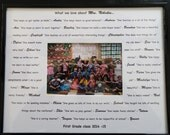 Custom Year End TEACHER GIFT Photo Mat with frame. Your choice of words, poem or quote on 11x14 photo mat for 5x7 photo with frame.