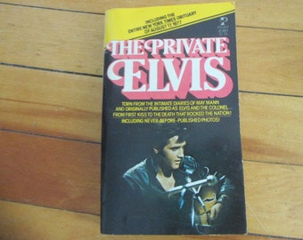 Vintage Paperback Book The Private Elvis by May Mann