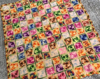 This Vintage Wool Granny Square Baby Blanket Should Be In Every Photo Shoot