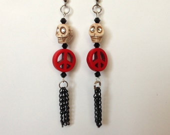Day of the Dead Jewelry,day of the dead costume, Dia De Los Muertos Costume, Day of the Dead Jewelry, Sugar Skulls, Earrings, Gothic Lolita