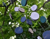 Colorful Garden Mobile, Silent Wooden Wind Chime, Indoor or Outdoor Decor