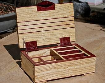 Jewelry  Box of White Ash and Purpleheart