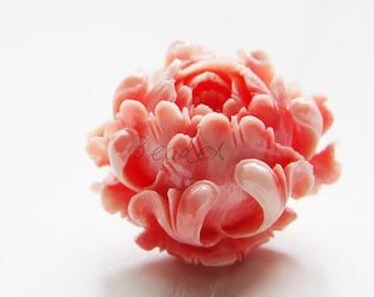 1 Piece / Flower / Rose / Light Pink / Resin / Beads / Light Weight  40mm (I//M617)