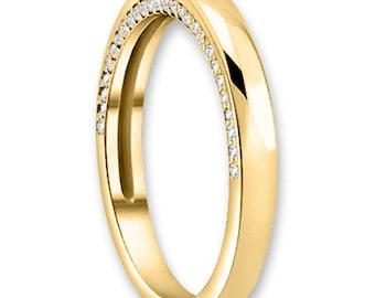 14K White / Yellow / Rose  Gold  Natural Round Diamond Wedding Band  Aniversary Ring ENS4230