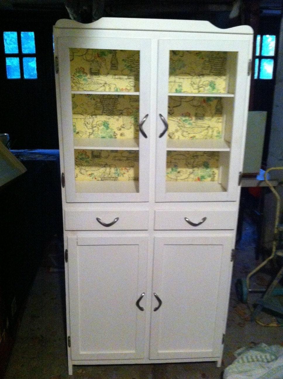 Vintage Pantry Cabinet Kitchen Or Bathroom Storage