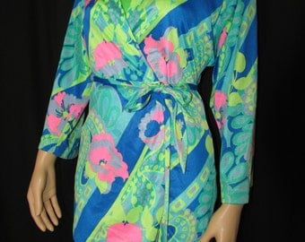 Vintage 70s Rose Marie Reid Swimsuit Cover Up Robe Small to Medium