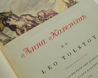 Anna Karenina by Leo Tolstoy / two antique volumes from 1939 / illustrated