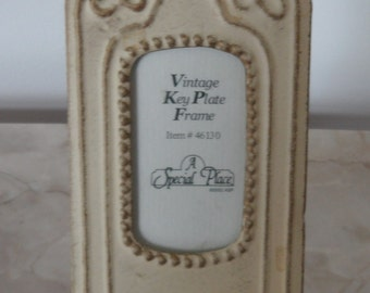 Vintage Replica Skeleton Key Metal Plate Photo Frame
