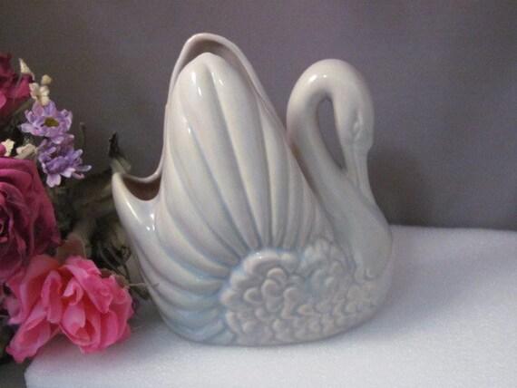 Vintage Gonder Pottery Swan Planter E 44 Usa