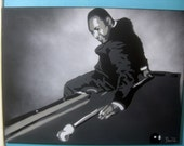 Dr. Martin Luther King Jr. Original Stencil Painting ~ Artwork by Beau Pope ~ Grayscale Hand Cut