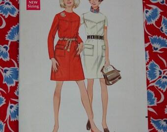 Vintage Pattern c.1960's Butterick No.5424 Dress Size 14  Uncut