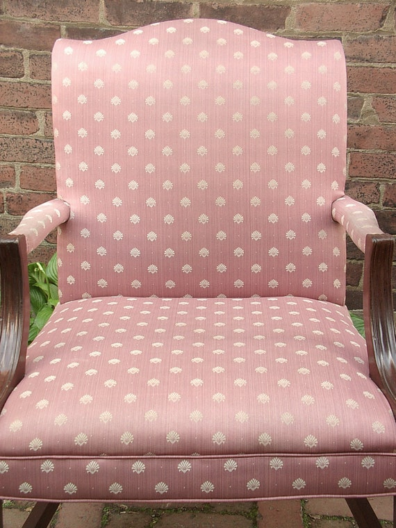 vintage 1940 s pink sateen chair pink bedroom by shoponsherman