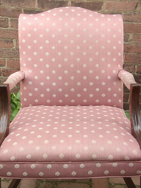 vintage 1940 39 s pink sateen chair pink bedroom by shoponsherman