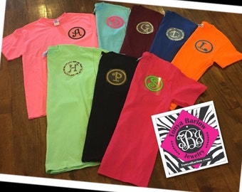 SALE!!  Monogrammed Gildan Tee Shirt with ONE initial.  ONLY 10.00.  Adult & Youth Sizes.