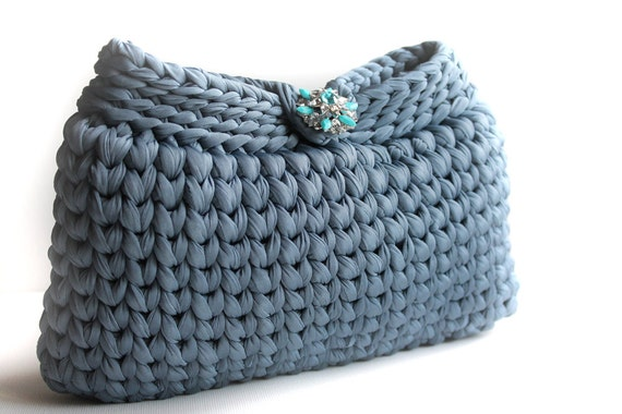 Crochet Clutch Purse : Elegant Handbag - Crochet Clutch Purse - Clutches evening bag